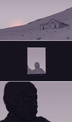 """""""이웃탐험 : 11번째 남자 - 2번째 밤"""" by YEOP (2016) (Moving Illustration Screenshot Img.)"""