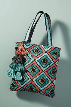 Gorgeous Print! Anthropologie Tamati Tote Bag #anthropologie #anthrofave #anthrohome #totebag #handbag #giftsforher #ad