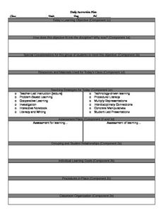 Danielson lesson plan template playbestonlinegames - Game design lesson plans for teachers ...