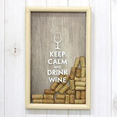 Копилка для винных пробок Keep Calm