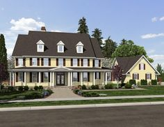 Plan 69500AM: Family Home With Detached Apartment