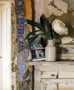 19th century wallpaper still clings...