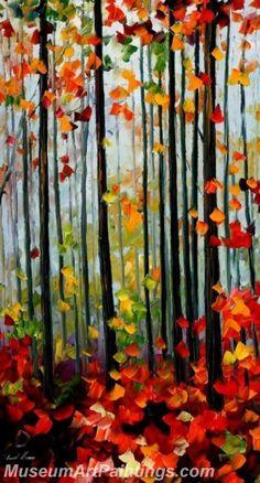 Modern Abstract Art Paintings Landscape Tree MDA01