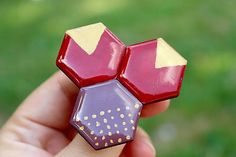 Martinuska / Geometrická Brooches Handmade, Heart Ring, Rings, Jewelry, Jewlery, Jewerly, Ring, Schmuck, Heart Rings