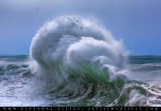 Rough sea 24 seascape with huge wave. Prints available at http://giovanni-allievi.artistwebsites.com/art/all/seascapes/all