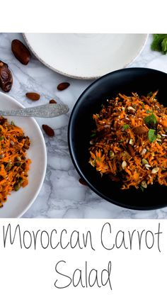 A unique mix of spices and flavours, the moroccan carrot salad is the perfect side for your special dinner! Balsamic Glazed Carrots, Carrot Curry, Moroccan Carrots, Baby Food Combinations, Bakewell, Carrot Salad, Toasted Almonds, Vegan Gluten Free, Baby Food Recipes