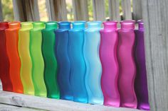 The Colorful White: Colorful bottles