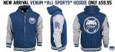 "New Venum ""All Sport"" hoodies... very nice! Only $59.95"