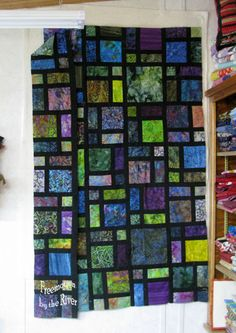 Batik quilt at Freemotion by the River