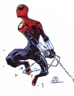 Resultado de imagen para superior spiderman - Visit to grab an amazing super hero shirt now on sale! All Spiderman, The Amazing Spiderman 2, Spiderman Drawing, Marvel Art, Marvel Dc Comics, Marvel Heroes, Comic Books Art, Comic Art, D Mark