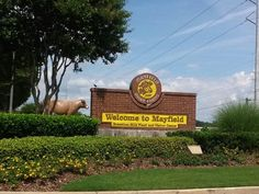 It's hard to miss the big yellow sign when you're heading to the factory and visitor center....