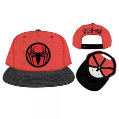8b0deab157e Spiderman Two Tone Cationic Red and Black Snapback. Black Snapback  HatsSnapback ...
