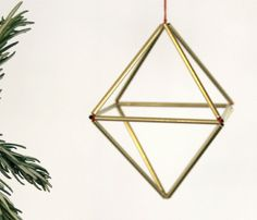 DIY brass himmeli ornaments