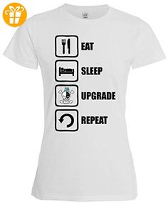 One Piece Franky Inspired Eat Sleep Upgrade Repeat Womens T-Shirt XX-Large (*Partner-Link)