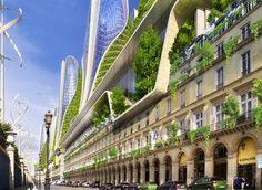 """2050 Paris Smart City by Vincent Callebaut Architectures. Paris Smart City"""" is a research and development project for Paris Architecture Durable, Green Architecture, Futuristic Architecture, Sustainable Architecture, Paris Architecture, Sustainable City, Sustainable Design, Amazing Architecture, Future City"""