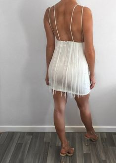 White Lace Tassel Bodycon