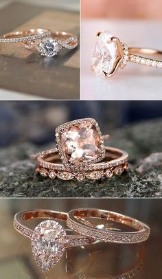 Ah we love everything about rose gold! The rose gold wedding trend is nothing new, and nowadays this pretty, pinkish metallic hue can be seen in details at the chicest of weddings, from sparkling tabletop decor to sta. Rose Gold Wedding Shoes, Emerald Wedding Colors, Pink And Gold Wedding, Burgundy Wedding, Engagement Ring Photos, Rose Gold Engagement Ring, Rose Scintillante, Couleur Or Rose, Wedding Trends