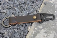 Handmade Military Clip Leather Keychain by Monkeychain196 on Etsy