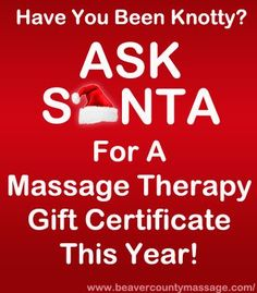 christmas massage images | Russ Medical and Sport Massage Clinic: Massage Therapy Christmas Gift ...