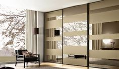 Wardrobe mirrored doors #wardrobestyles