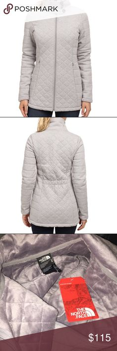 North Face jacket Brand new with tags. Gray color, really warm. Super cute, 3 buttons on the neck. North Face Jackets & Coats