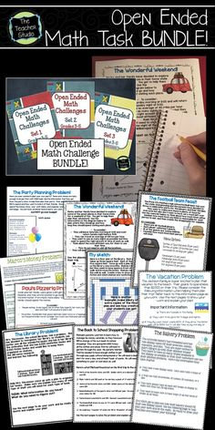 Looking for a ready-to-print, easy to use way to get your students solving challenging, real world problems?  Perfect for whole class work, encouraging math talk, for enrichment groups, or for fast finishers.  Rigorous but fun math activities!