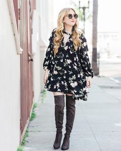 This floral dress an