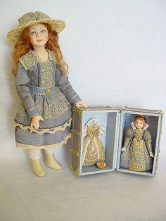 HELLO DOLLY: Quintessa with her Queen Elizabeth 1 Doll-trunk