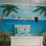 Bedroom with beach theme