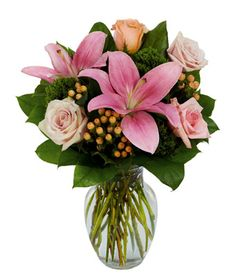 Pink Rose Petal & Lily Surprise