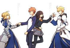 Saber and Shirou Osakabehime and Arthur