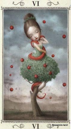 VI. The Lovers - Nicoletta Ceccoli Tarot by Nicoletta Ceccoli