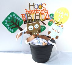 Items similar to Owl Boy Themed Party Centerpiece Sticks Set of 5 Personalized With Name and Age - Woodland on Etsy Owl Party Decorations, Owl Centerpieces, Birthday Fun, 1st Birthday Parties, Party Themes For Boys, Little Man, Rowan, First Birthdays, Sticks