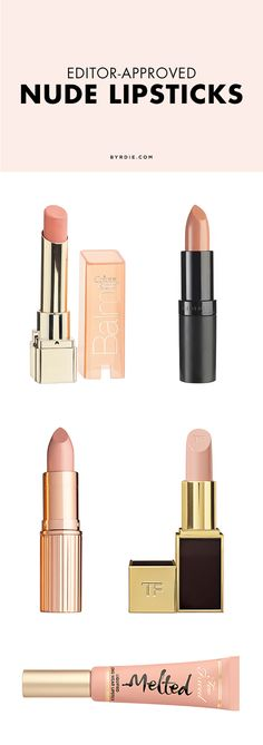 5 nude lipsticks editors love (via @byrdiebeauty)