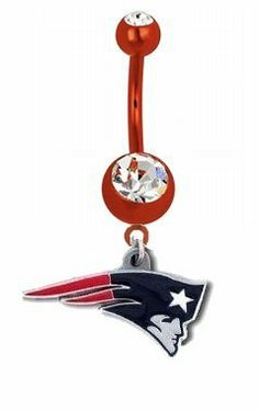 New England Patriots NFL PREMIUM Red Titanium Anodized Sexy Belly Navel Ring NFL. $29.99. 316L Surgical Grade Steel. Detailed Team Logo. 14g, Crystal/Enamel. Save 50%!