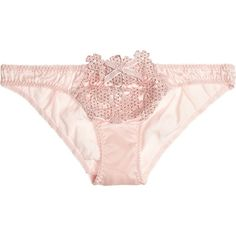 Agent Provocateur Soirée Ilona crystal-embellished silk-blend satin... (725 ARS) ❤ liked on Polyvore featuring intimates, panties, lingerie, underwear, outfits, pastel pink, satin lingerie, agent provocateur lingerie, underwear lingerie and garter belt