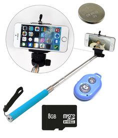 Finest Selfie Stick With Blutooth Remote, 8 Gb Sd Card And Battery - Android And Ios Phones, http://www.snapdeal.com/product/finest-selfie-stick-with-blutooth/672083604177