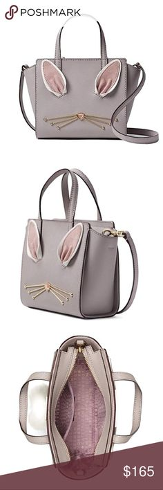 "Kate Spade Hop To It Bunny Mini Hayden Satchel 100% Authentic  Brand New with Tag  Leather Top zip closure Interior zip pocket 5.2""h x 5.7""w x 3.7""d . 3.2"" handheld, 22"" adjustable strap kate spade Bags Satchels"