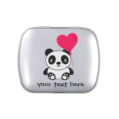 Valentine Panda Jelly Belly Tin