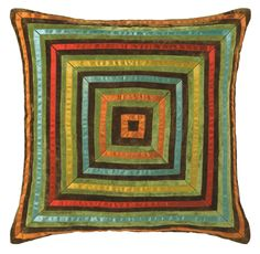 Tie your color theme together with this Zoe pillow by #CompanyC. Silk and velvet #accentpillow #decorativepillow #homedecor