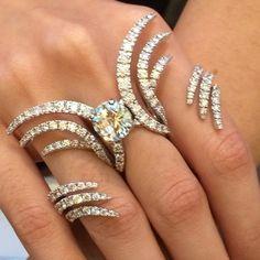 Multi Finger Damiani Ring