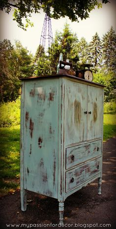 My Passion For Decor: Flea Market Highboy....My Favorite Project To Date!
