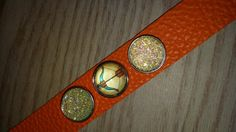 Leather snap bracelet with crystal snaps and bow andarrow snap..archery jewelry by CamoAndAmmoBoutique on Etsy