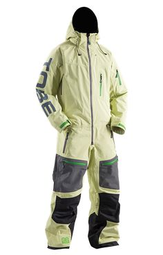TOBE Privus Mono Suit, Mellow Green - Snowmobile, ski and snowboard one-piece suit. 100% windproof, 100% waterproof, breathable Sympatex Membrane. #chooseyourpath