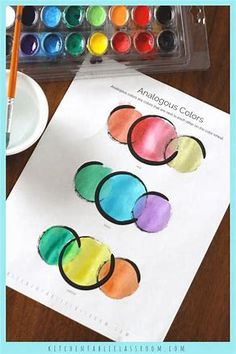 Images Color Mixing Guide, Color Mixing Chart, Color Art Lessons, Art Lessons For Kids, Coloring For Kids, Free Coloring, Extensions, Watercolor Video, Watercolor Painting