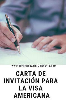 Mi carta de invitación para la visa americana | Súper Baratísimo Gratis Visa Americana, Tips, High School Seniors, Letters, Invitations, Places, Counseling