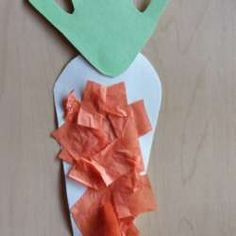Carrot Collage from Crafty Toddler Projects