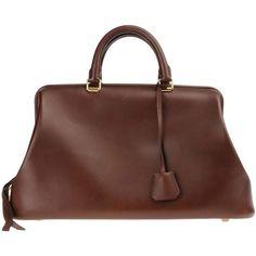 CÉLINE Handbag (€1.565) ❤ liked on Polyvore featuring bags, handbags, celine, dark brown, fringe handbags, dark brown handbags, brown purse, fringe purse and brown leather purse