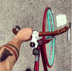 Vessel Workshop - classic leather handlebar wrap (inspired by classic track bike bars)