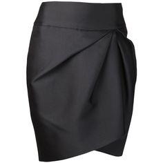 GIAMBATTISTA VALLI gathered pencil skirt (4.635 HRK) ❤ liked on Polyvore featuring skirts, bottoms, saias, gonne, black asymmetrical skirt, giambattista valli, ruched skirt, black pencil skirt and black gathered skirt